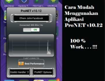 Cara Menggunakan Pronet Apk v10