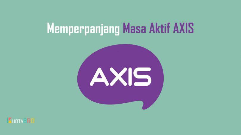 Memperpanjang Masa Aktif AXIS