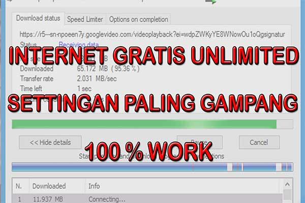 Beberapa Cara Internet Gratis Unlimited Terbaru
