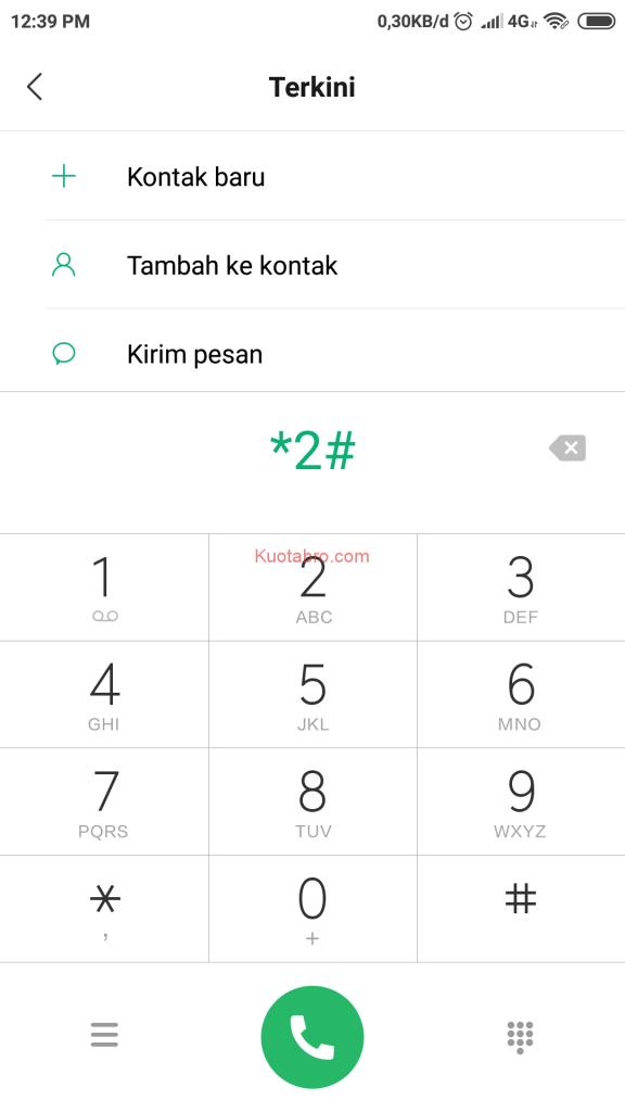 cara cek nomor axis lewat sms