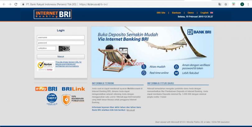 3 Cara Daftar BRI Internet Banking + Aktivasi dan ...