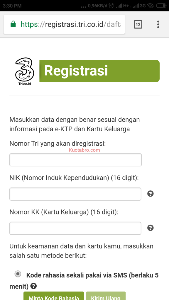3 Cara Registrasi Kartu 3 Anti Gagal Update 2020