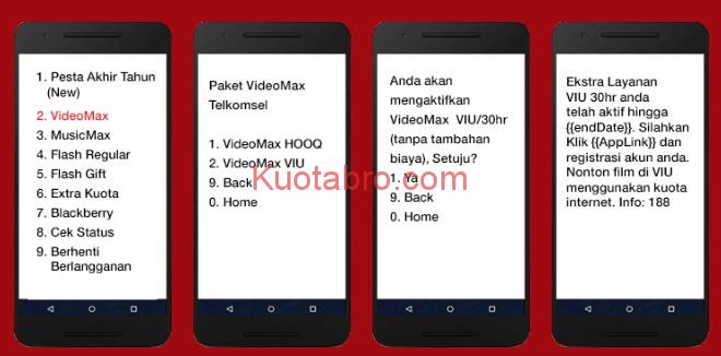 cara menggunakan kuota video max telkomsel