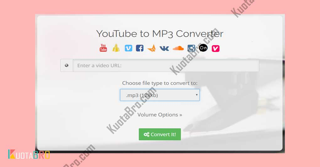 Download MP3 Youtube dengan Converttoaudio.com
