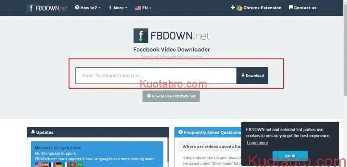Download Video Facebook PC dengan FBDOWN