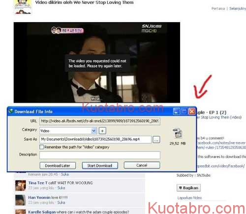 Download Video Facebook PC dengan IDM