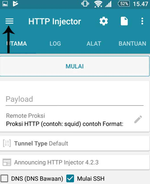 Aplikasi HTTP Injector