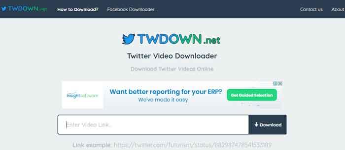 Cara Download Video Twitter via TWdown.net