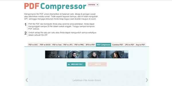 Cara Kompress PDF Online dengan Tool PDF Compressor