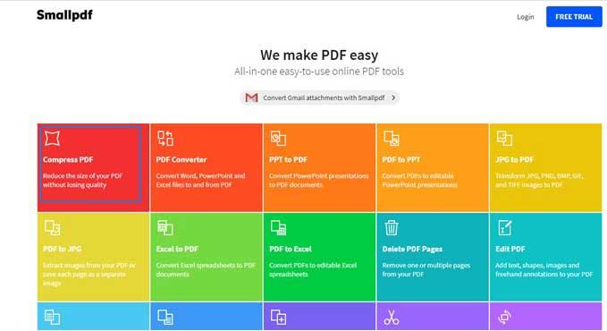 Cara Kompress PDF Online dengan Tool Small PDF