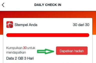 Cara mengumpulkan stamp di aplikasi