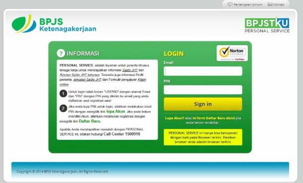 Cek BPJS Ketenagakerjaan Melalui Website