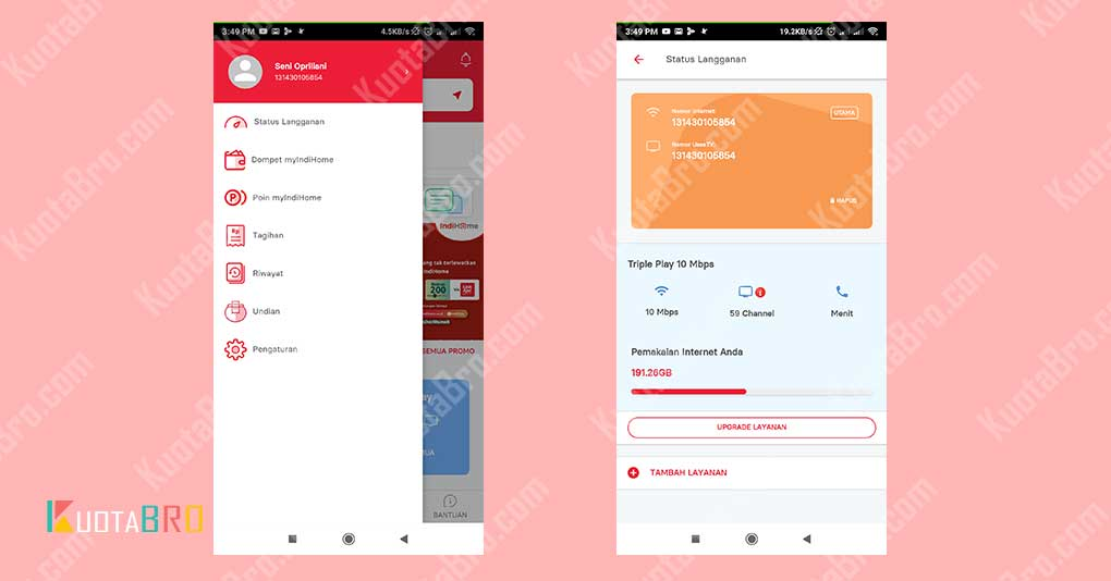 Cek Kuota IndiHome via Aplikasi