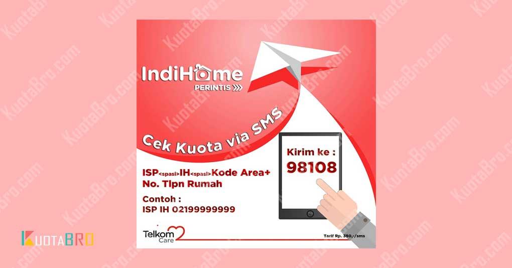 Cek Kuota IndiHome via SMS