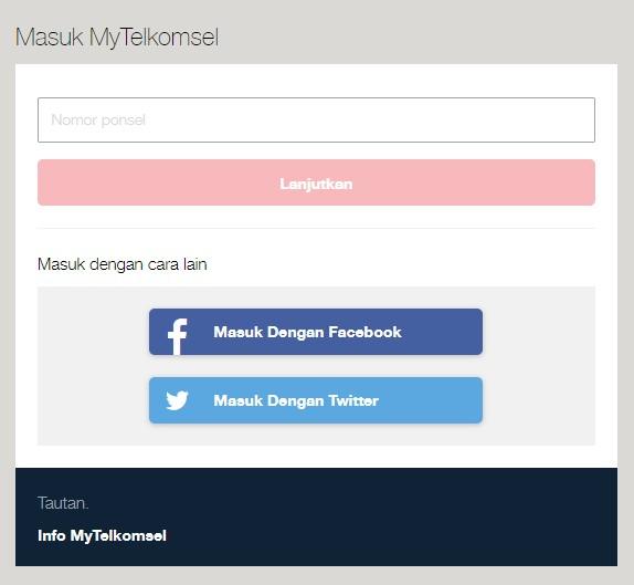 Cek Masa Aktif Telkomsel via Website