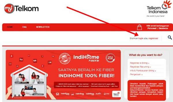Cek Tagihan IndiHome Website