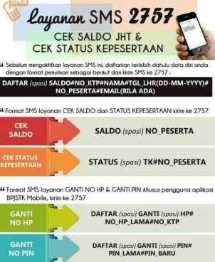 Cek status BPJS Ketenagakerjaan Melalui SMS