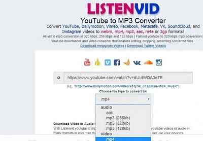 Download Lagu MP3 Dari Youtube di Laptop via Listenvid