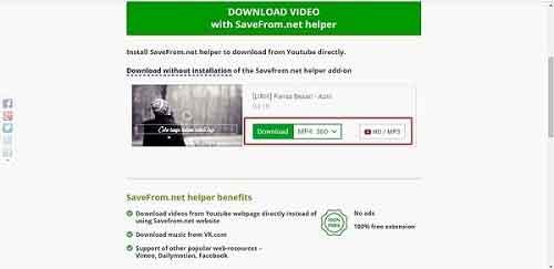 Download Lagu MP3 Dari Youtube di Laptop via en.savefrom.net