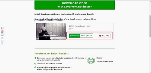 Download Lagu MP3 Dari Youtube di Laptop via en.savefrom.net