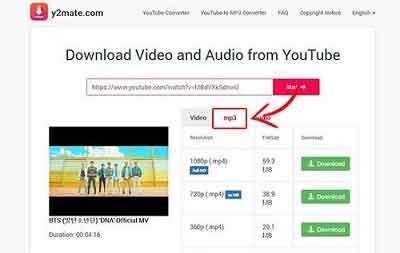 Download Lagu MP3 Dari Youtube di Laptop via y2mate.com