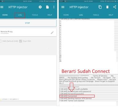 HTTP Injector kartu tri berhasil