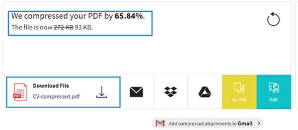 Kompress PDF Online Tool Small PDF