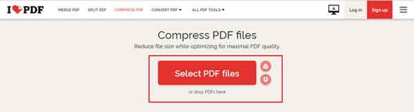 Kompress PDF Online dengan Tool iLovePDF