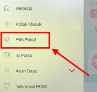 Paket Combo Telkomsel via Aplikasi