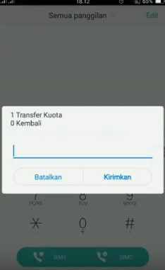 Transfer kuota XL
