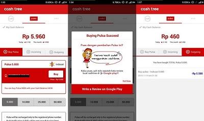 Kode Voucher Kuota Tri Gratis - cara mendapat pulsa gratis dari cashtree