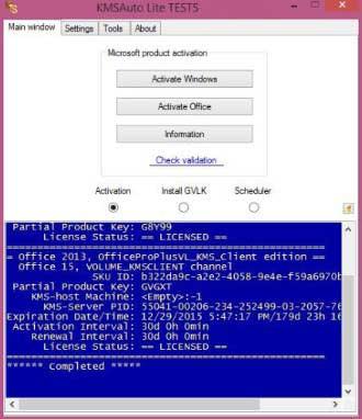 Aktivasi Windows 10 Pro KMS Auto Lite Berhasil