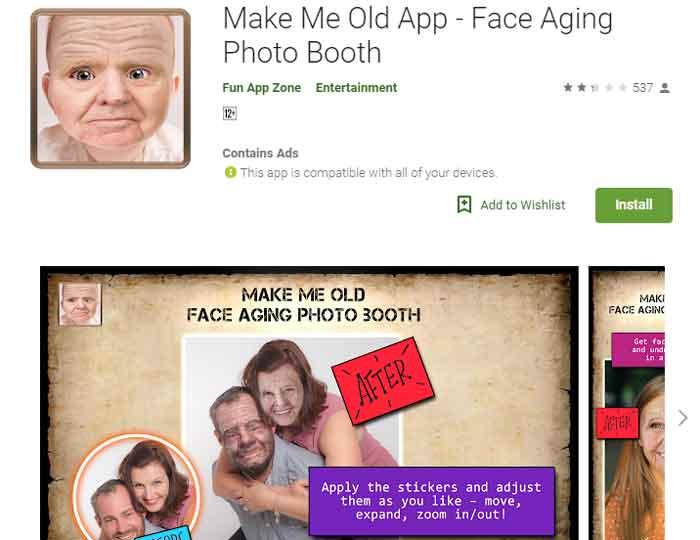 Aplikasi Make Me Old Edit Foto Menjadi Tua