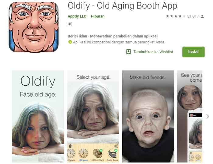 Aplikasi Oldify Edit Foto Menjadi Tua
