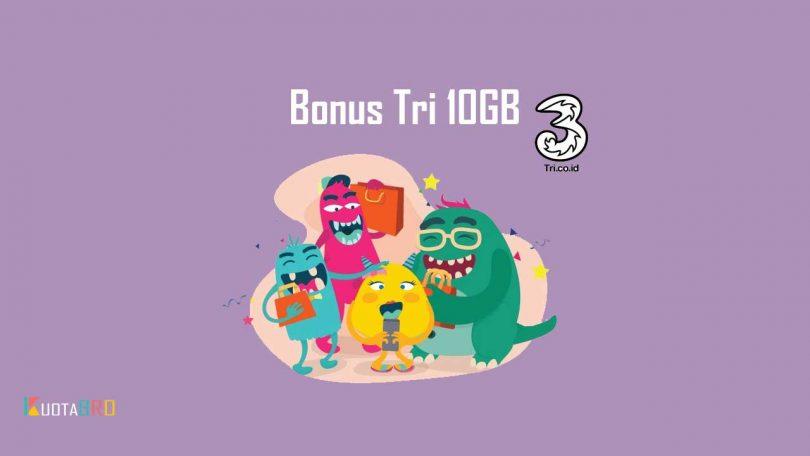mendapatkan bonus tri 10gb dari bonstri