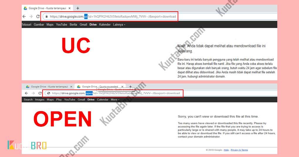 Cara Mengatasi Error Limit Download Google Drive