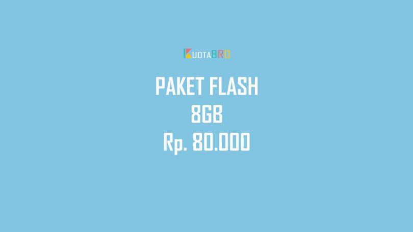 Dafatar Paket Flash 8GB 80000