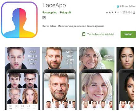 Download Aplikasi Face App