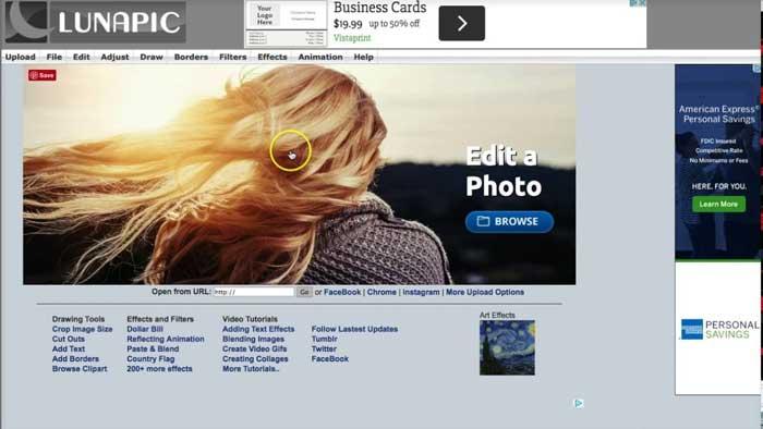 Edit Foto Online Lunapic