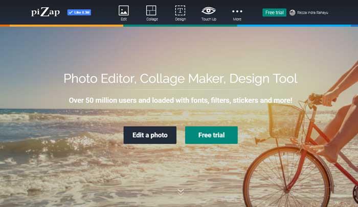 Edit Foto Online Pizap