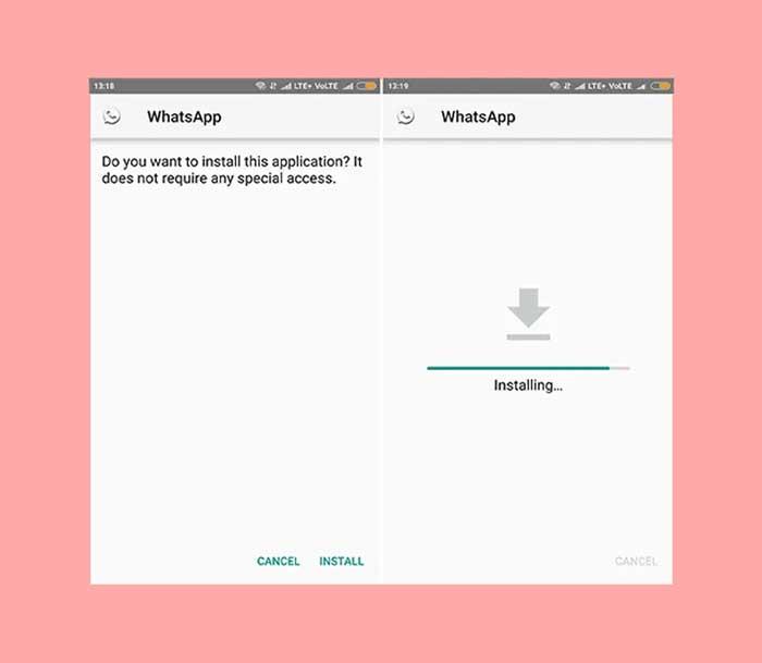 Instal Aplikasi WhatsApp MOD