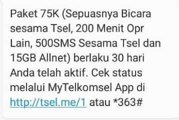 Internet Telkomsel Grab 15GB 75RB