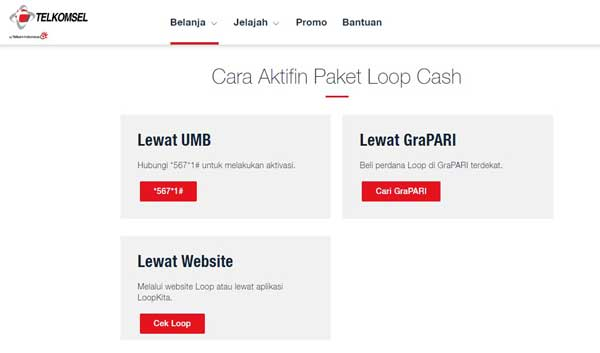 Loop Cash Telkomsel