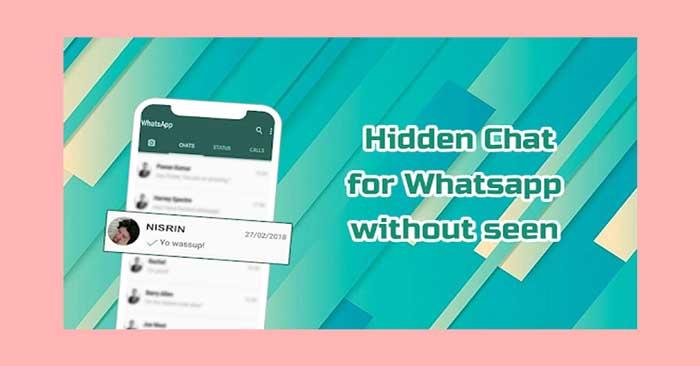 Mematikan Kode Online di Whatsapp Menggunakan Hidden Chat