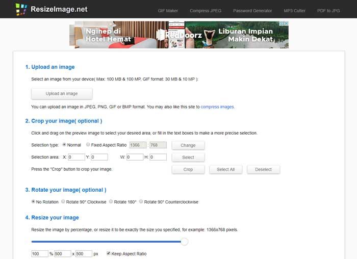 Memperbesar Ukuran Foto Online dengan Image Resizer