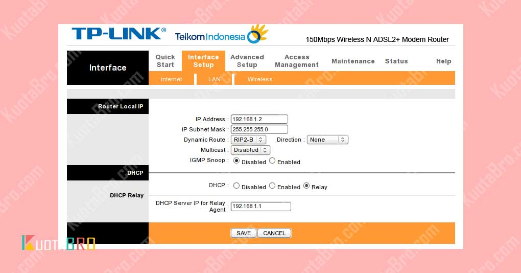 Modem TD-8840T Menjadi Access Point