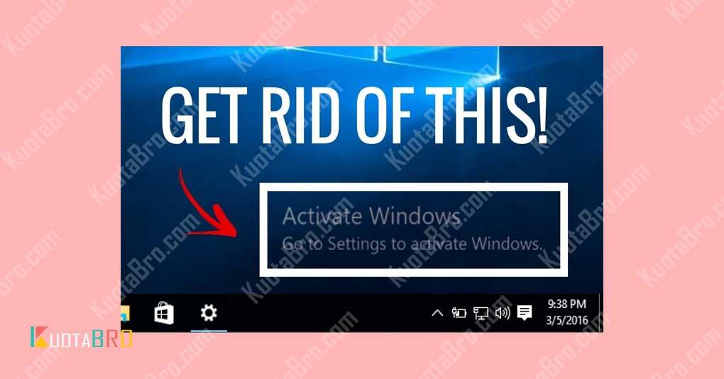 Notifikasi Activated Windows