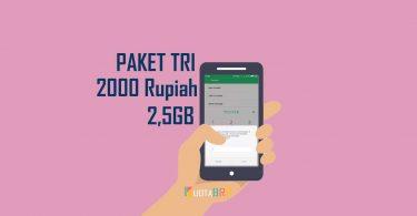 Paket Tri 2000 Rupiah 2,5GB