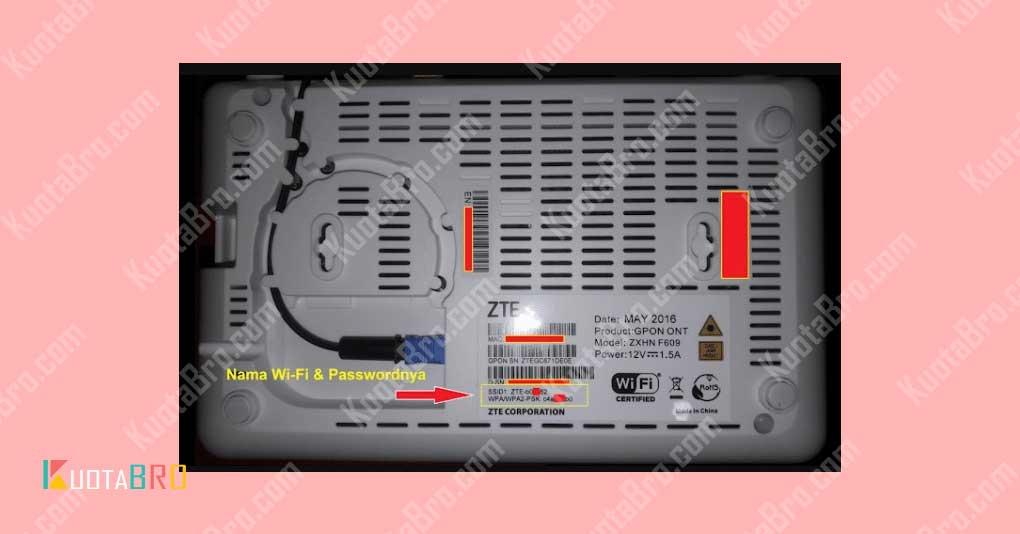 Setting Awal Modem ZTE F609