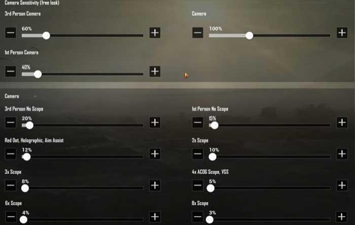 Settingan sensitivity dan konfigurasi keyboard 2